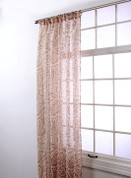"Marley Rod Pocket Curtain 84"" long - Caramel"