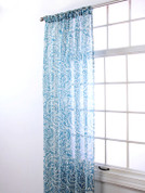 "Marley Rod Pocket Curtain 84"" long - Ocean Blue"
