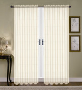 Monique Sheer Rod Pocket Curtain - Beige
