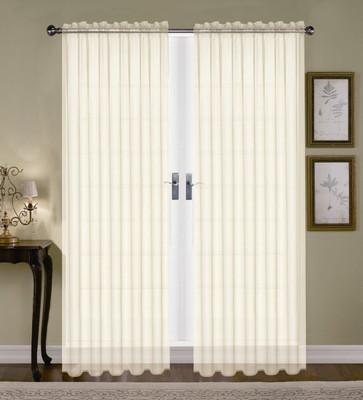 Monique Sheer Rod Pocket Curtain - Beige