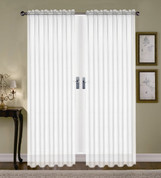 Monique Sheer Rod Pocket Curtain - White