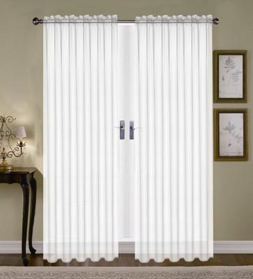 Monique Sheer Rod Pocket Curtain - White