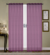 Monique Sheer Rod Pocket Curtain - Purple