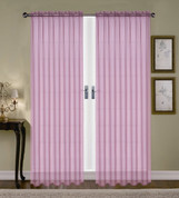 Monique Sheer Rod Pocket Curtain - Lilac