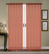 Monique Sheer Rod Pocket Curtain - Cinnamon