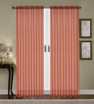Monique Sheer Rod Pocket Curtain - Cinnamon
