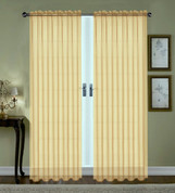 Monique Sheer Rod Pocket Curtain - Gold