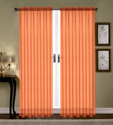 Monique Sheer Rod Pocket Curtain - Orange