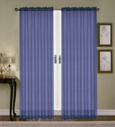 Monique Sheer Rod Pocket Curtain - Navy