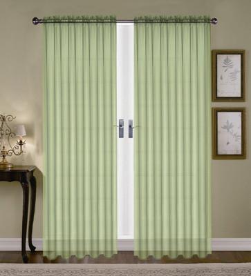 Monique Sheer Rod Pocket Curtain - Green