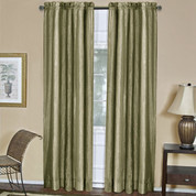 Ombre Rod Pocket Curtain Panel  - Sage
