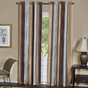 Ombre Rod Pocket Curtain Panel  - Chocolate