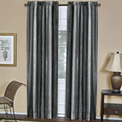 Ombre Rod Pocket Curtain Panel  - Black