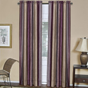 Ombre Rod Pocket Curtain Panel - Aubergine