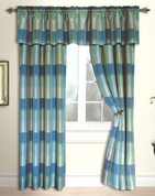 Plaid Rod Pocket Curtain Panel - BLUE