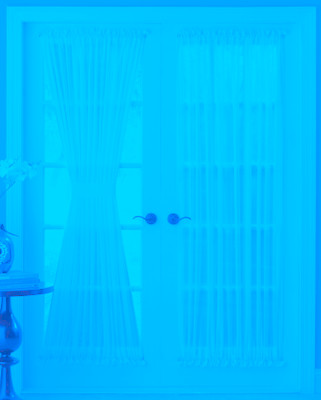 Reverie Semi-Sheer Voile Door Panels - Available in White or Eggshell