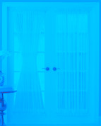 "Reverie Semi-Sheer Voile Door Panel 40"" long"