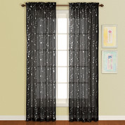 Savannah Rod Pocket Curtain Panel - Black