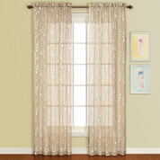 Savannah Rod Pocket Curtain Panel - Taupe