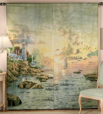 Sea of Tranquility Rod Pocket Curtain Pair by Thomas Kincade