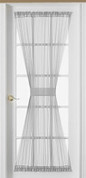 Emelia Sheer Voile Door Panel - White - Available in 6 lengths