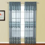 "Valerie Macrame Curtain Panel 84"" - Blue"