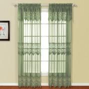 "Valerie Macrame Curtain Panel 84"" - Sage"