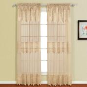 "Valerie Macrame Curtain Panel 84"" - Taupe"