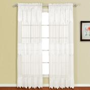 "Valerie Macrame Curtain Panel 84"" - White"