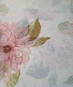 Water Lily Rod Pocket Curtain Panel - Pink