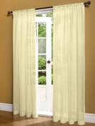 Weathershield Insulated Sheer Rod Pocket Curtain Panel - Ivory