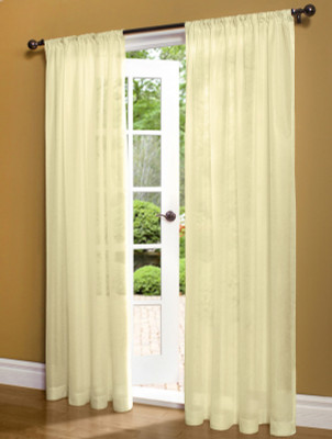 Weathershield Insulated Sheer Rod Pocket Curtain Panel