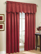 Whitfield Scalloped Valance- Available in Sage, Chocolate, Blue, Latte, Wine, White, Navy