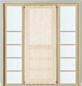 Windsor Lace Door Panel - Natural - Available in 2 lengths