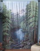 Woodland Crossing Rod Pocket Curtain Pair