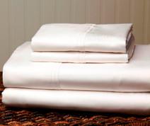 310 Thread Count Cotton Sheet Set Full - White