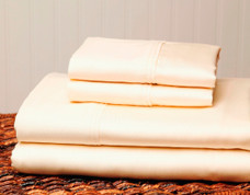 310 Thread Count Cotton Sheet Set Queen Size - Ivory