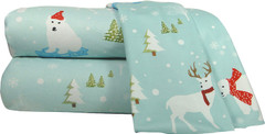 Micro Flannel 4pc Queen Size Sheet Set - FunSnow