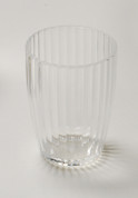 Acrylic Ribbed Tumbler - Clear