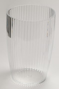 Acrylic Ribbed Wastebasket - Clear