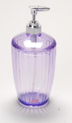 Acrylic Ribbed Lotion/Soap Dispenser - Magenta