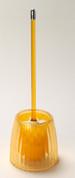 Acrylic Ribbed Bowl Brush - Orange