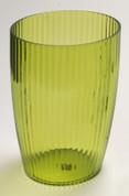 Acrylic Ribbed Wastebasket - Palm Green