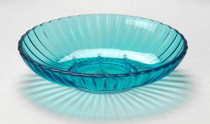 Acrylic Ribbed Soap Dish - Cerulean Blue