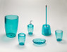 Acrylic Bath Accessories in Cerulean Blue