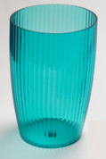 Acrylic Ribbed Wastebasket - Cerulean Blue