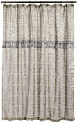 Barbara Fabric Shower Curtain - Silver