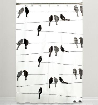 Bird on a Wire Vinyl Shower Curtain