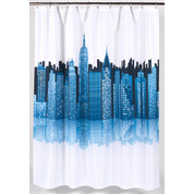 Cityscape Skyline Shower Curtain