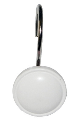 Color Rounds Shower Hooks - White